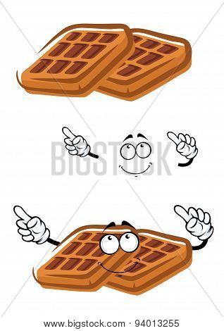 Cartoon classic sugar waffle character
