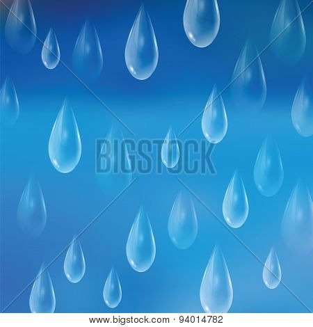 Background With Rain Drops