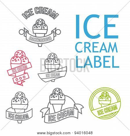 Line Ice Cream Badges