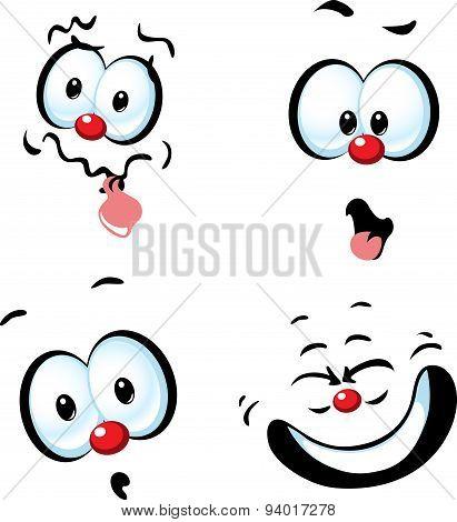 Funny Vector Cartoon Face - Grin