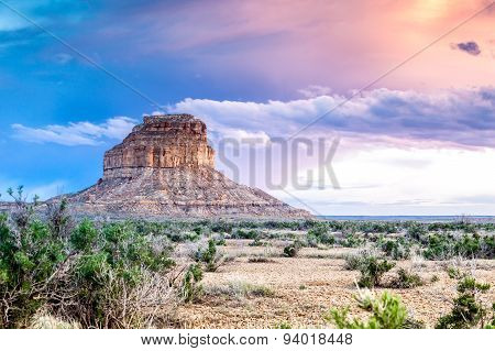 Fajada Butte in Chaco Culture National Historical Park, New Mexico, USA