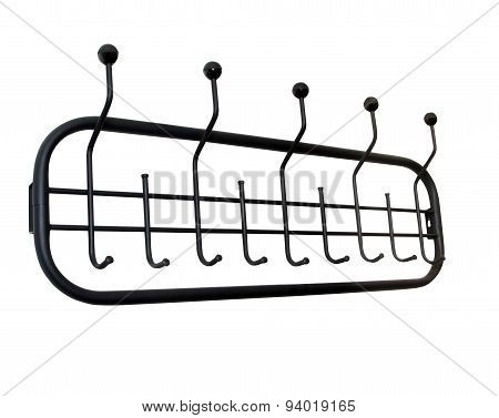 Clothes rack isolated over white