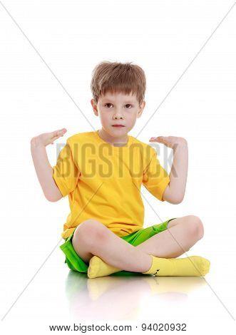 Fair-haired little boy