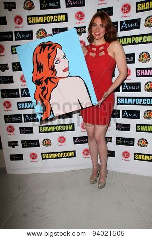 LOS ANGELES - JUN 4:  Maitland Ward at the Celebrity Selfies Art Show by Sham Ibrahim at the Sweet! Hollywood on June 4, 2015 in Los Angeles, CA