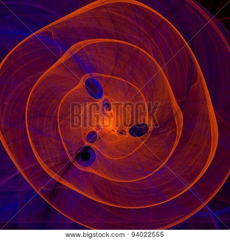 Orange purple abstract spiral fractal