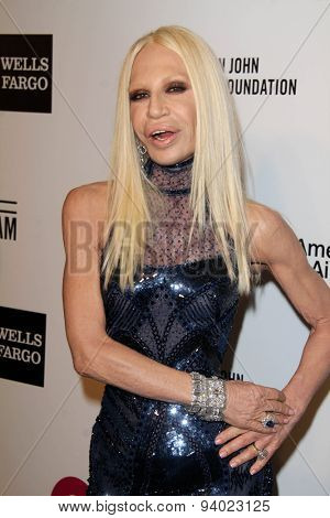 LOS ANGELES - MAR 3:  Donatella Versace at the Elton John AIDS Foundation's Oscar Viewing Party at the West Hollywood Park on March 3, 2014 in West Hollywood, CA