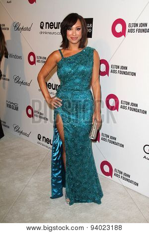LOS ANGELES - MAR 3:  Cheryl Burke at the Elton John AIDS Foundation's Oscar Viewing Party at the West Hollywood Park on March 3, 2014 in West Hollywood, CA