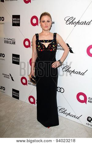 LOS ANGELES - MAR 3:  Anna Paquin at the Elton John AIDS Foundation's Oscar Viewing Party at the West Hollywood Park on March 3, 2014 in West Hollywood, CA