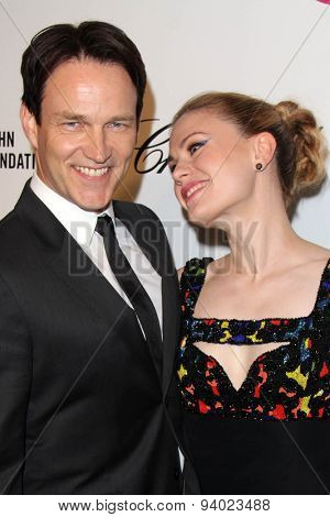 LOS ANGELES - MAR 3:  Stephen Moyer, Anna Paquin at the Elton John AIDS Foundation's Oscar Viewing Party at the West Hollywood Park on March 3, 2014 in West Hollywood, CA