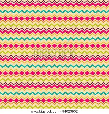 Ethnic tribal zig zag seamless pattern
