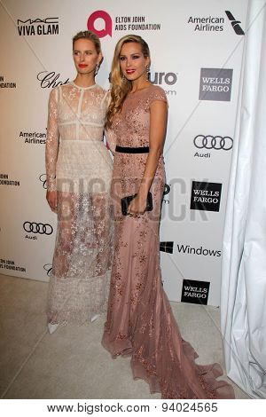 LOS ANGELES - MAR 3:  Karolina Kurkova, Petra Nemcova at the Elton John AIDS Foundation's Oscar Viewing Party at the West Hollywood Park on March 3, 2014 in West Hollywood, CA