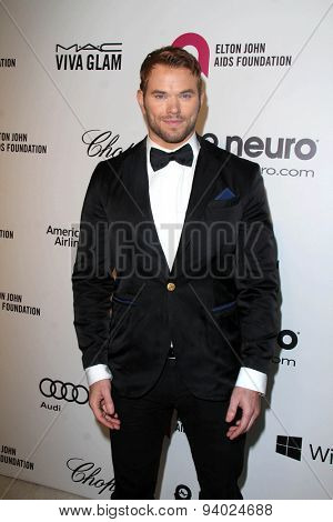 LOS ANGELES - MAR 3:  Kellan Lutz at the Elton John AIDS Foundation's Oscar Viewing Party at the West Hollywood Park on March 3, 2014 in West Hollywood, CA