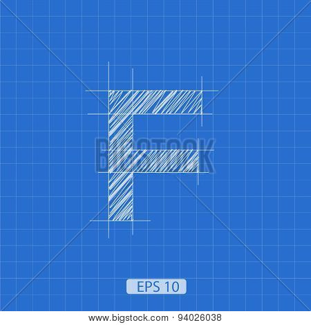 F letter architectural plan