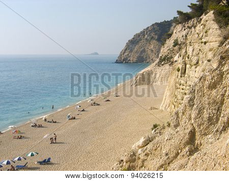 Egremni beach Lefkada Greece.