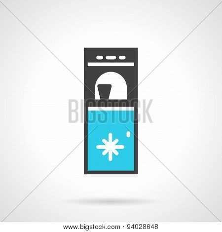 Water cooling machine black and blue vector icon