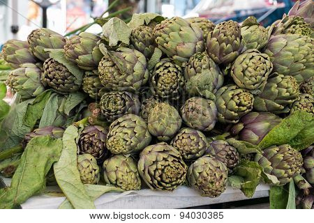 Pile Of Artichokes