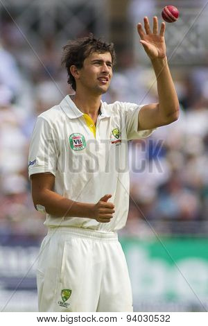 NOTTINGHAM, ENGLAND - July 12, 2013: Australia's Ashton Agar during day three of the first Investec Ashes Test match at Trent Bridge Cricket Ground on July 12, 2013 in Nottingham, England.