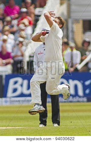 NOTTINGHAM, ENGLAND - July 12, 2013: Australia's Shane Watson during day three of the first Investec Ashes Test match at Trent Bridge Cricket Ground on July 12, 2013 in Nottingham, England.