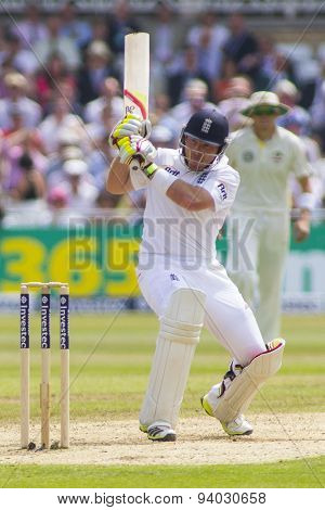 NOTTINGHAM, ENGLAND - July 12, 2013: England's Ian Bell batting during day three of the first Investec Ashes Test match at Trent Bridge Cricket Ground on July 12, 2013 in Nottingham, England.