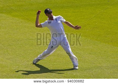 NOTTINGHAM, ENGLAND - July 11, 2013: England's Jonathan Trott during day two of the first Investec Ashes Test match at Trent Bridge Cricket Ground on July 11, 2013 in Nottingham, England.