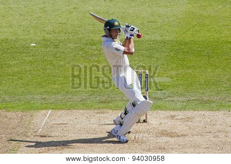 NOTTINGHAM, ENGLAND - July 11, 2013: Australia's Ashton Agar batting during day two of the first Investec Ashes Test match at Trent Bridge Cricket Ground on July 11, 2013 in Nottingham, England.