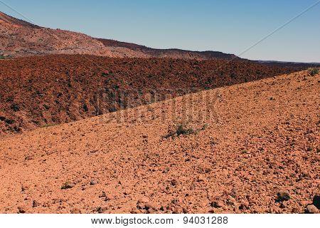 Desert  view near Teide volcano