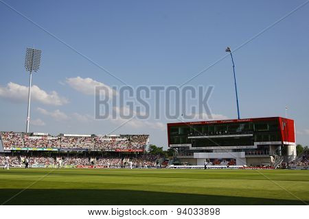 MANCHESTER, ENGLAND - August 01 2013: A general view during day one of  the Investec Ashes 3rd test match at Old Trafford Cricket Ground, on August 01, 2013 in London, England.