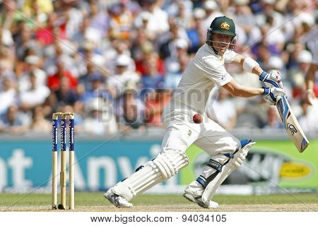 MANCHESTER, ENGLAND - August 02 2013: Brad Haddin during day two of  the Investec Ashes 3rd test match at Old Trafford Cricket Ground, on August 02, 2013 in London, England.