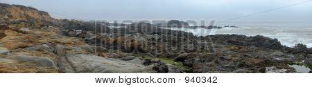 Panorama.Pacific Ocean. North California. Usa