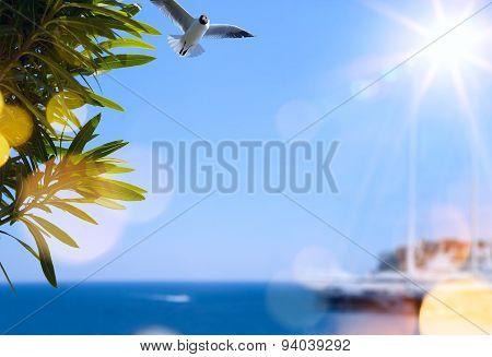 Art Summer Travel Background