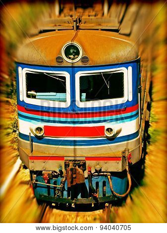 Locomotive.soft Bokeh And Toned Image.