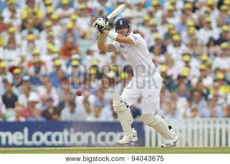 LONDON, ENGLAND - August 22 2013: Ryan Harris bowling during day two of the 5th Investec Ashes cricket match between England and Australia played at The Kia Oval Cricket Ground