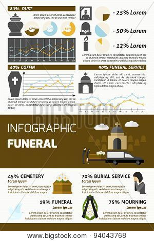 Funeral Infographics Set