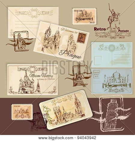 Vintage Postcards Template