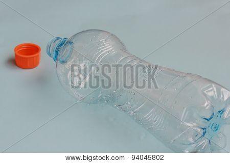 A Bottle Of Fresh Water Emptied