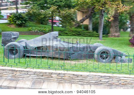 MONTE CARLO, MONACO - SEPTEMBER 20, 2008: The concept of Formula 1 in a street in Monaco.