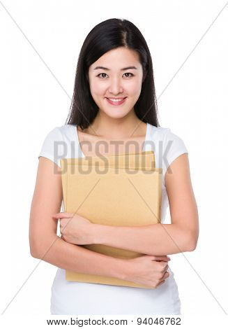 Student hold with folder