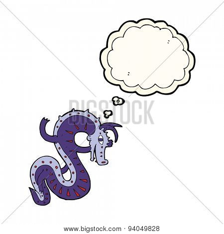 saxon dragon cartoon with thought bubble