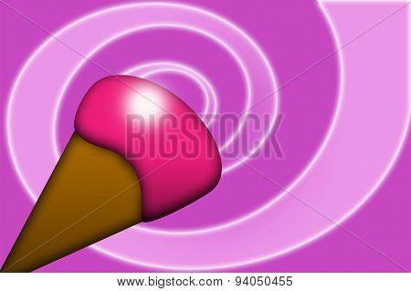Pink ice-cream