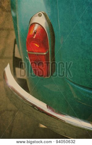 vintage car backlight and bumpor