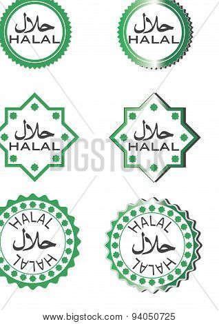 Halal food Button - collection