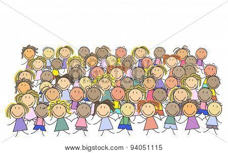 Kids - group of children - illustration