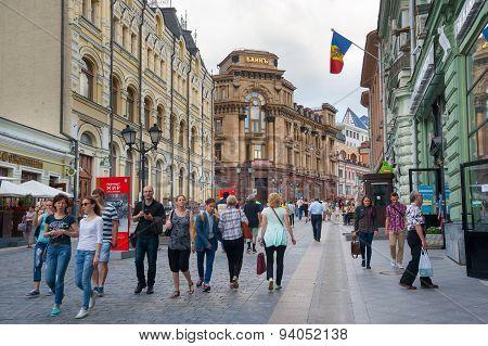People Walking On Kuznetsky Most Street