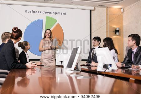 Pregnant business consultant