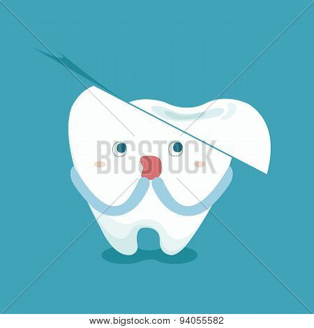 Tooth feel frighten because broken tooth
