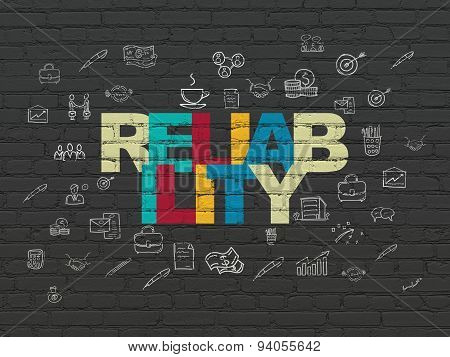 Business concept: Reliability on wall background