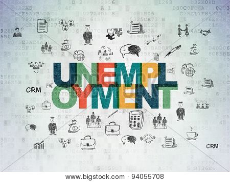 Finance concept: Unemployment on Digital Paper background
