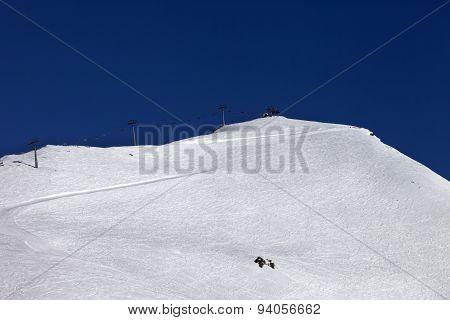 Ski Slope And Ropeway