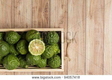 Bergamots In A Wood Box