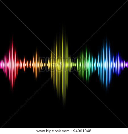 Colorful Music Equalizer Vector Background